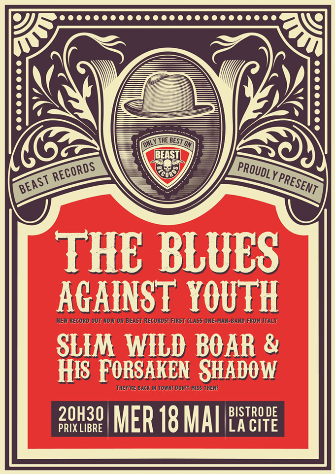 The Blues Against Youth + Slim Wild Boar